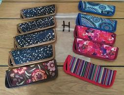 """10 Eyeglass Cases for Thin Style Readers """"H"""" Multi colors an"""