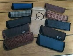 """10  Eyeglass Cases for Thin Style Readers """"Q"""" Assorted Style"""