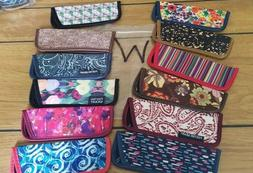"""12  Eyeglass Cases for Thin Style Readers """"W"""" Assorted Style"""