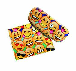 Spoontiques 13692 Emojis Eye Glass Case with Matching Lens C