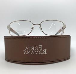 PORTA ROMANA 1776 100 WOOD EYE GLASSES 58-17-135 NEW w. CASE