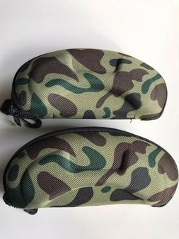 2 childrens camouflage eyeglass cases new zipper