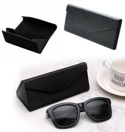 2 PCS Magnetic Eyeglasses Glasses Case Boxes Folding Triangu