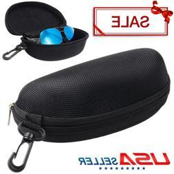 2x Portable Zipper Eye Glasses Sunglasses Clam Shell Hard Ca