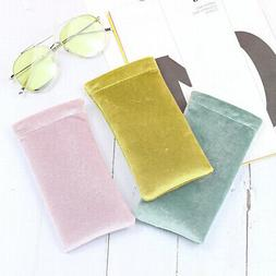 3pcs Squeeze Top Sunglasses Pouch Eyeglass Holder Storage Or