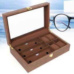 4+3 Velvet Rico Wood Watch Eyeglass Case Organizer Sunglass
