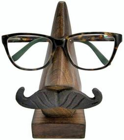 5.25 Inches Indian Handmade Wooden Brown Turtle Eyeglass Spe