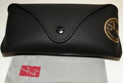 Ray ban Brand new leather case only Black with cleaning clot