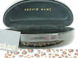 Joan Rivers BLACK Large Hard-Shell Sunglass Case nEW