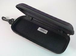 New Black Semi Hard Safety Eyeglasses XL Case Nylon Zipper S