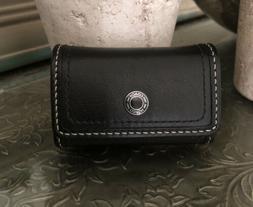 Coach Contact Lense Compact Case Black Signature NWOT