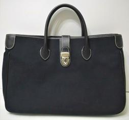 Dooney & Bourke Black Handbag With Shoulder Strap, Key Chain