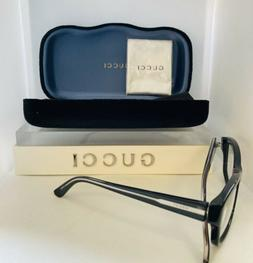 Gucci - Eye Glasses - Black- Crystal- womens -silver lined t