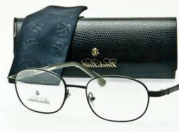 BROOKS BROTHERS Eyeglass Frame Shiny Gunmetal Grey B.B.489 1