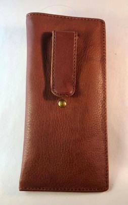 Eyeglass / Glasses Case - Top grain Calf antique brown leath
