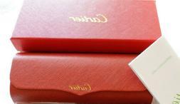 CARTIER Eyeglasses Hard Case BOX/CASE Red Leather FRANCE Mag