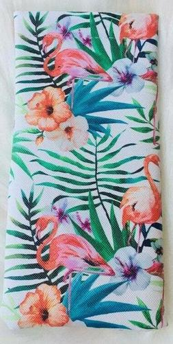 Flamingo, Pineapple & Butterfly Eyeglass Case Pouch Vinyl Fa