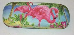 Flamingo,Pink/Green,Eyeglass,Case,NEW!