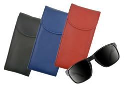 Genuine Leather Double Glasses Holder Eyeglasses Pocket Slim