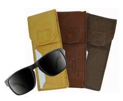 Genuine Leather Glasses Holder Eyeglasses Pocket Slim Card C