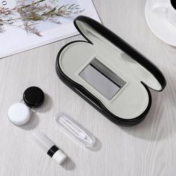ROSENICE Glasses and Contact Lens Case 2 in 1 Double Sided T