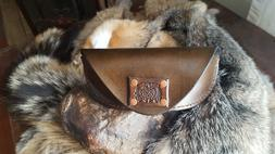 Hand Crafted Leather Eyeglass Case Celtic Design