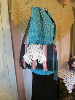 Handmade 4 Pc Woven Lined Wallets Eye Glass holder Shoulder