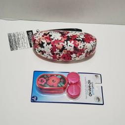Hard Clam Shell Case for Eyeglasses/ Sunglass with Contact L
