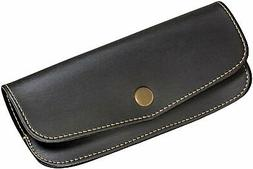 Hard Eyeglass Case With Snap Closure, Men's Tailored Black S