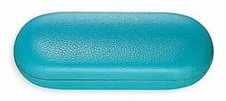 Hard Shell Eyeglass Case For Women & Men, Faux Leather Glass