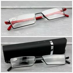 Hot Reading Glasses Half Frame Presbyopic Women Men Eyeglass