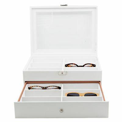 12 white eyeglass sunglass oversized storage display