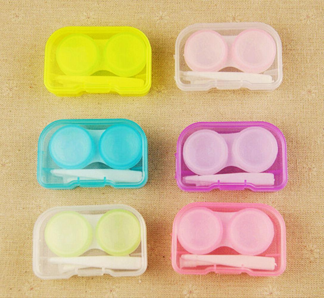 5x contact lenses case kit cute travel