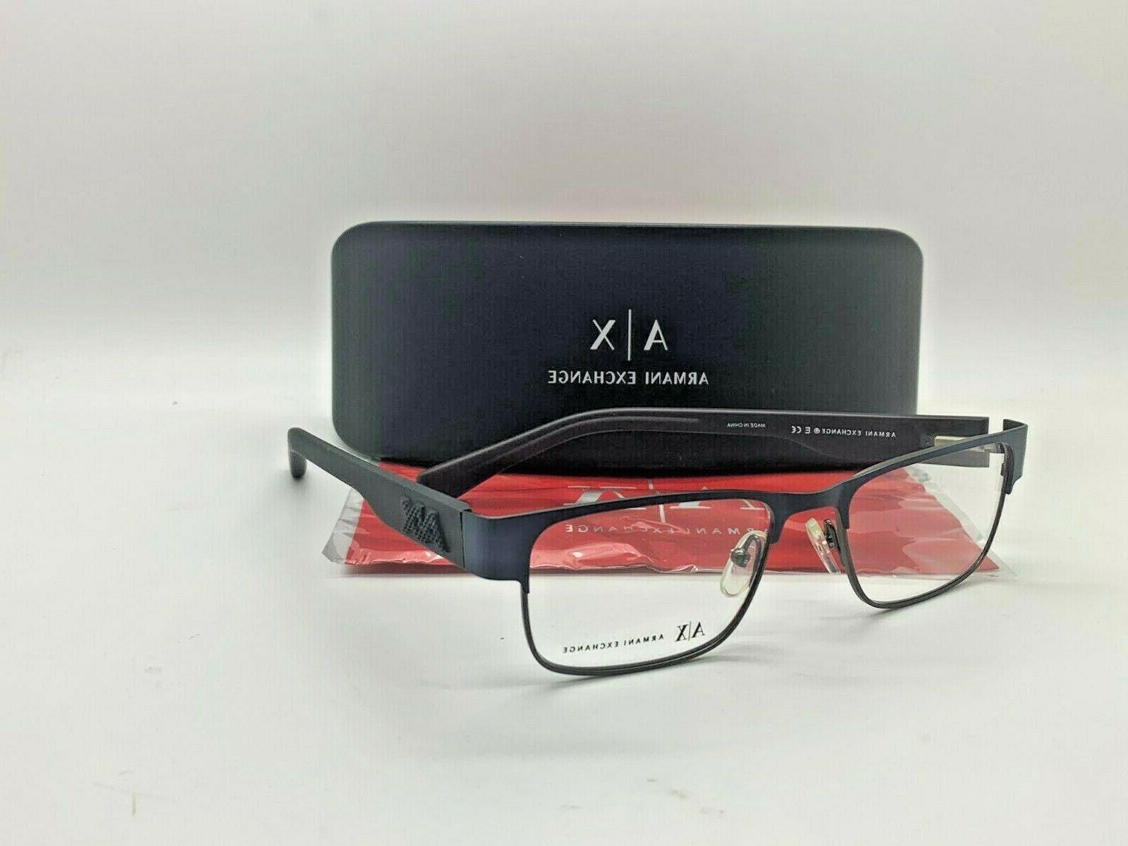ax3035 8157 matte dark blue eyeglasses 54