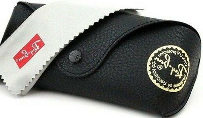 black soft leather case sunglasses case snap