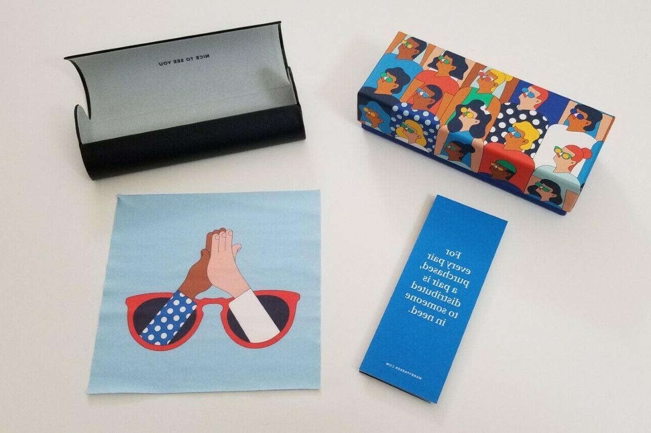 Warby Parker Designer Eyeglass Case, Case & Cloth; new!