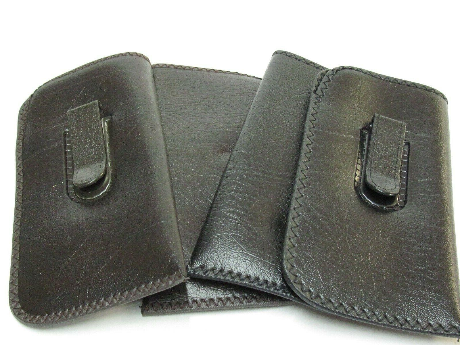 eyeglasses soft cases with pocket clips two