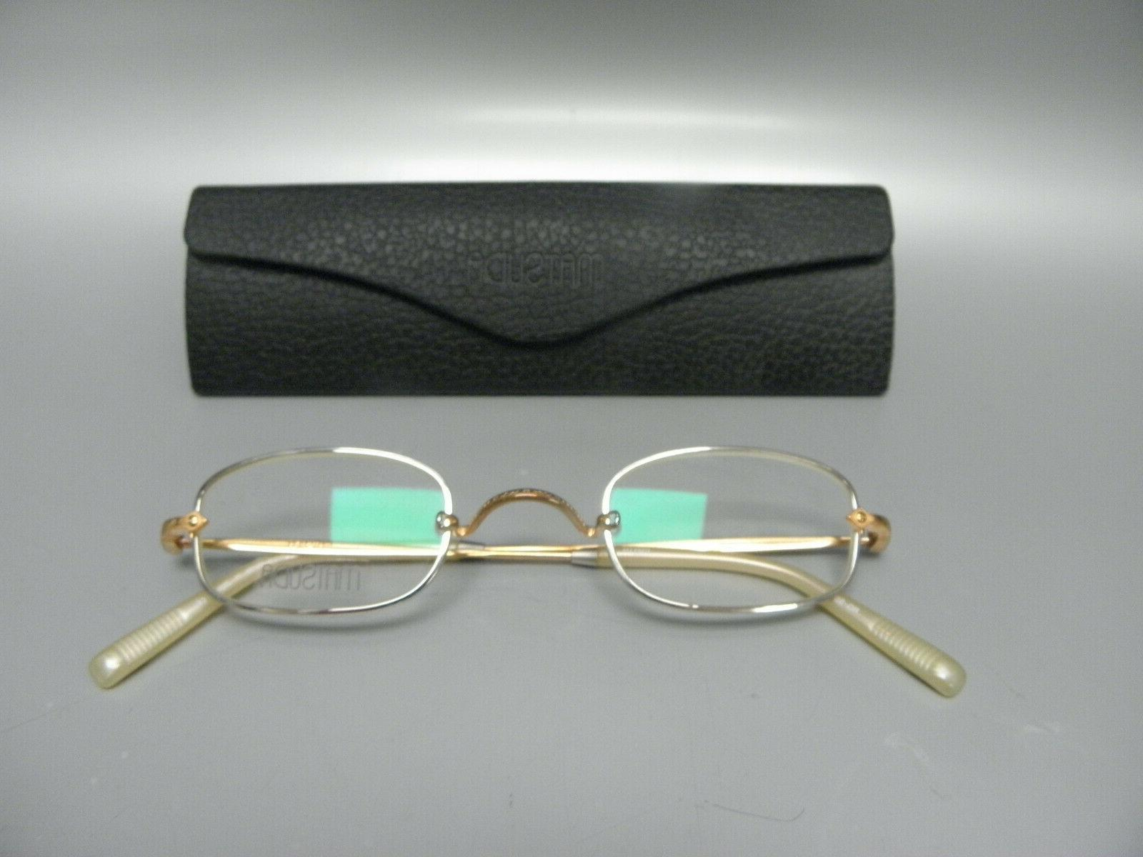 genuine 10211h eyeglasses silver rose gold ivory
