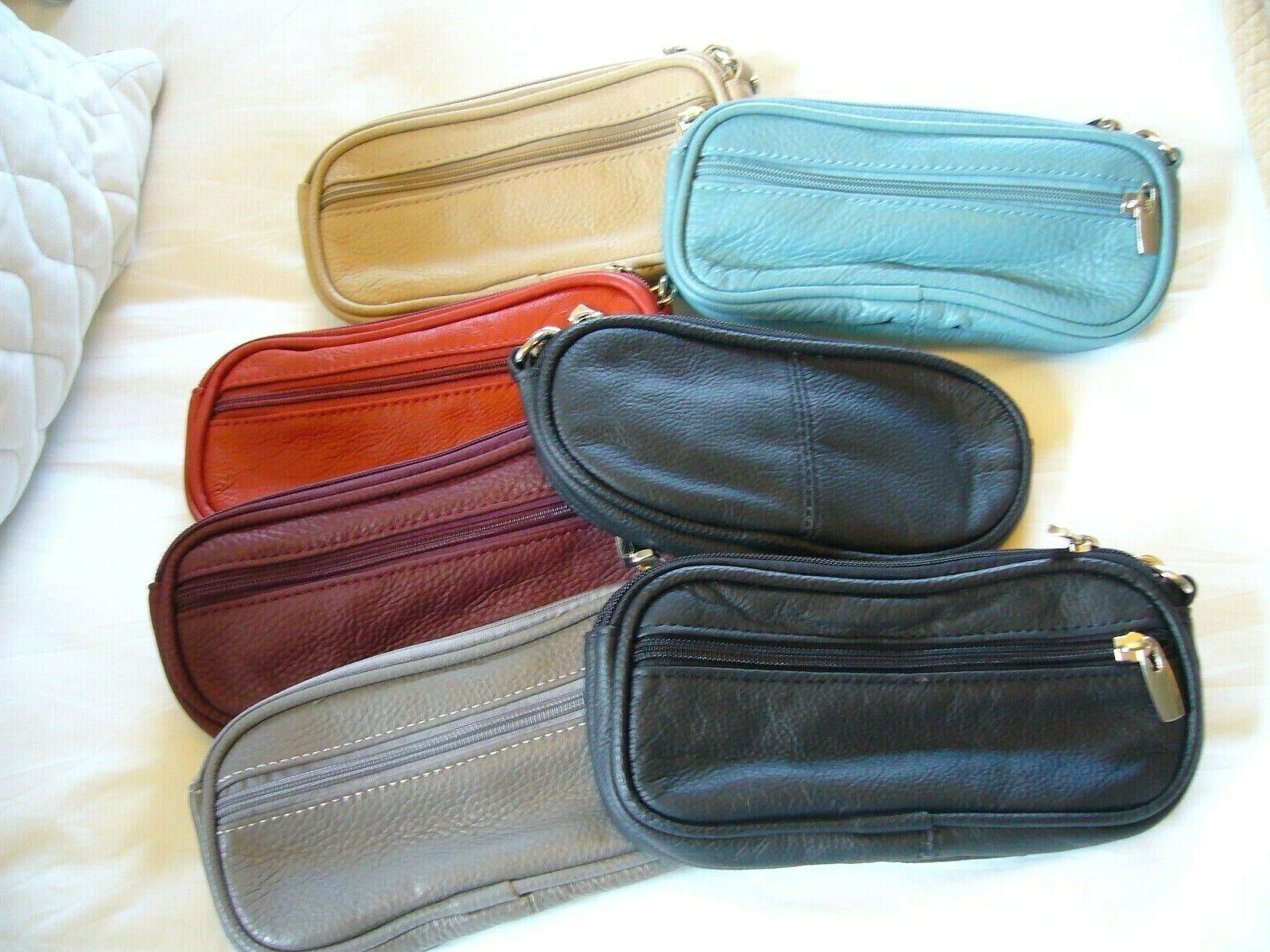 genuine leather eyeglass sunglass cases single or