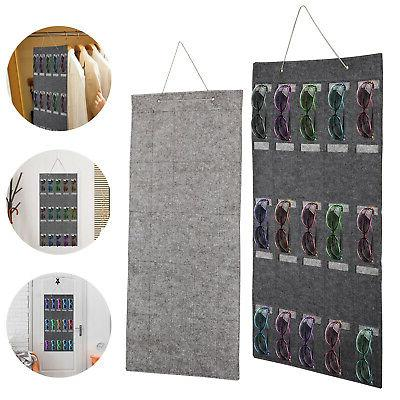 hanging sunglasses storage bag display felt wall