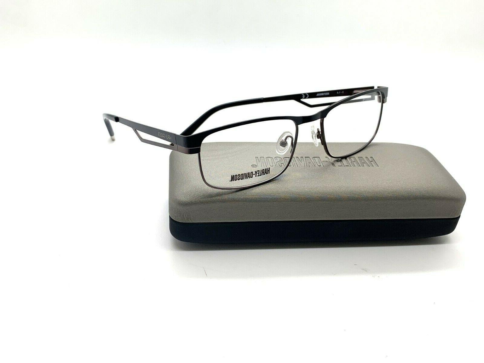 harley davidson hd466 blk men s eyeglasses