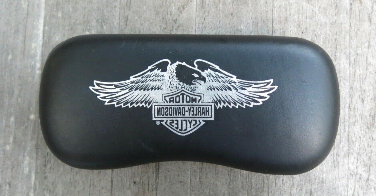 harley davidson motorcycles sunglass eyglass case hard