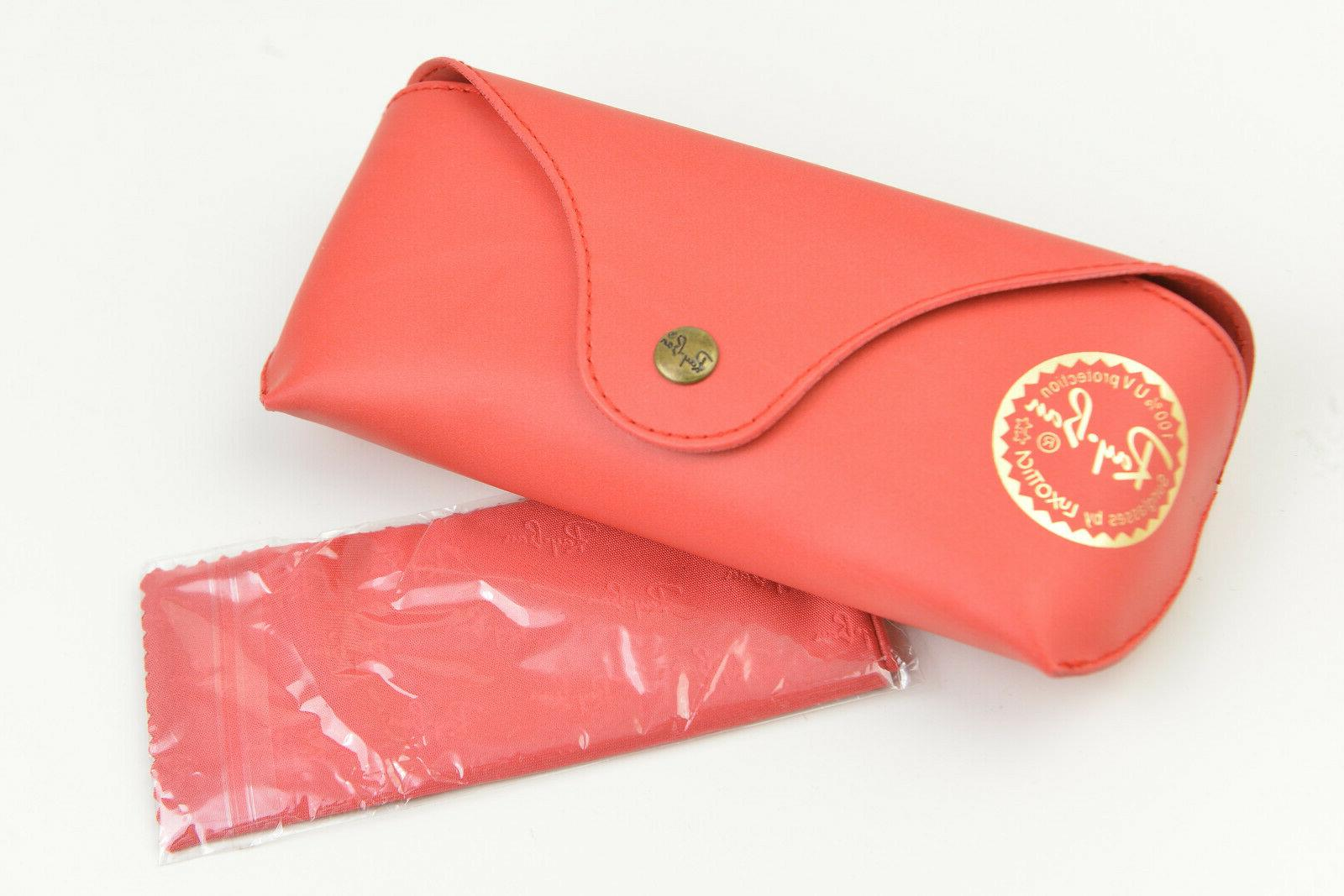 new authentic ray ban leather cases red