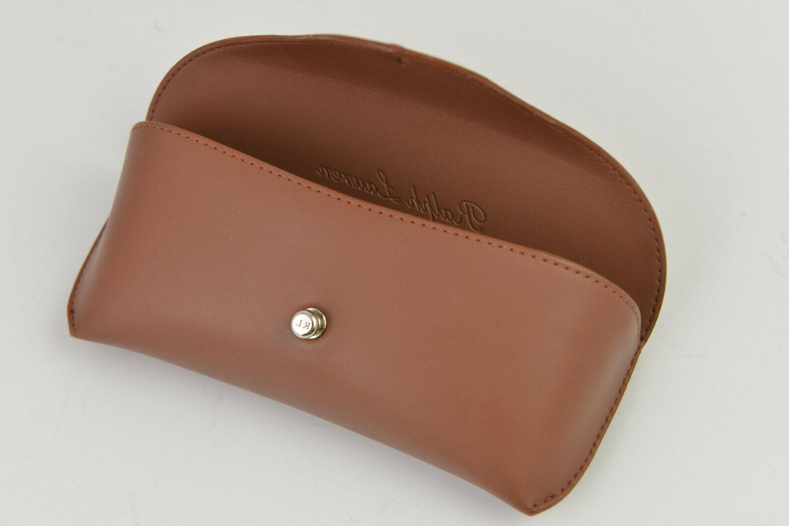 New Ralph Lauren / sunglasses case brown leather Italy