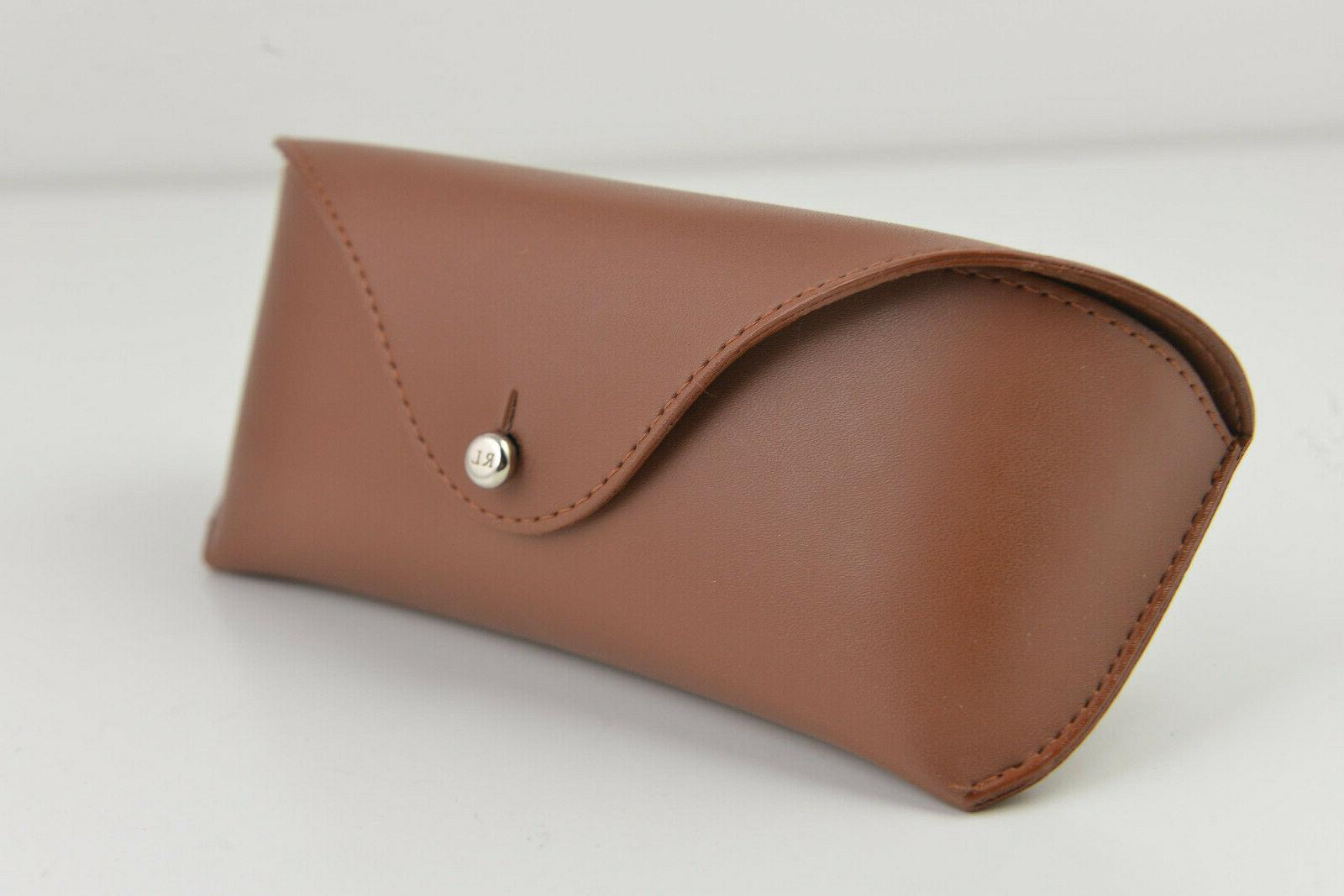 new eyeglasses sunglasses hard case brown leather