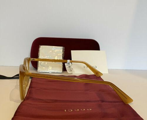 New GUCCI GG0122O 004 Gold Frame Bee