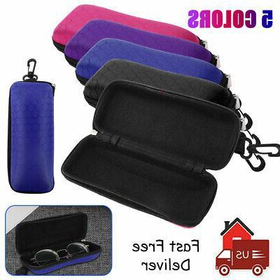 portable zipper glass case hard eyewear box