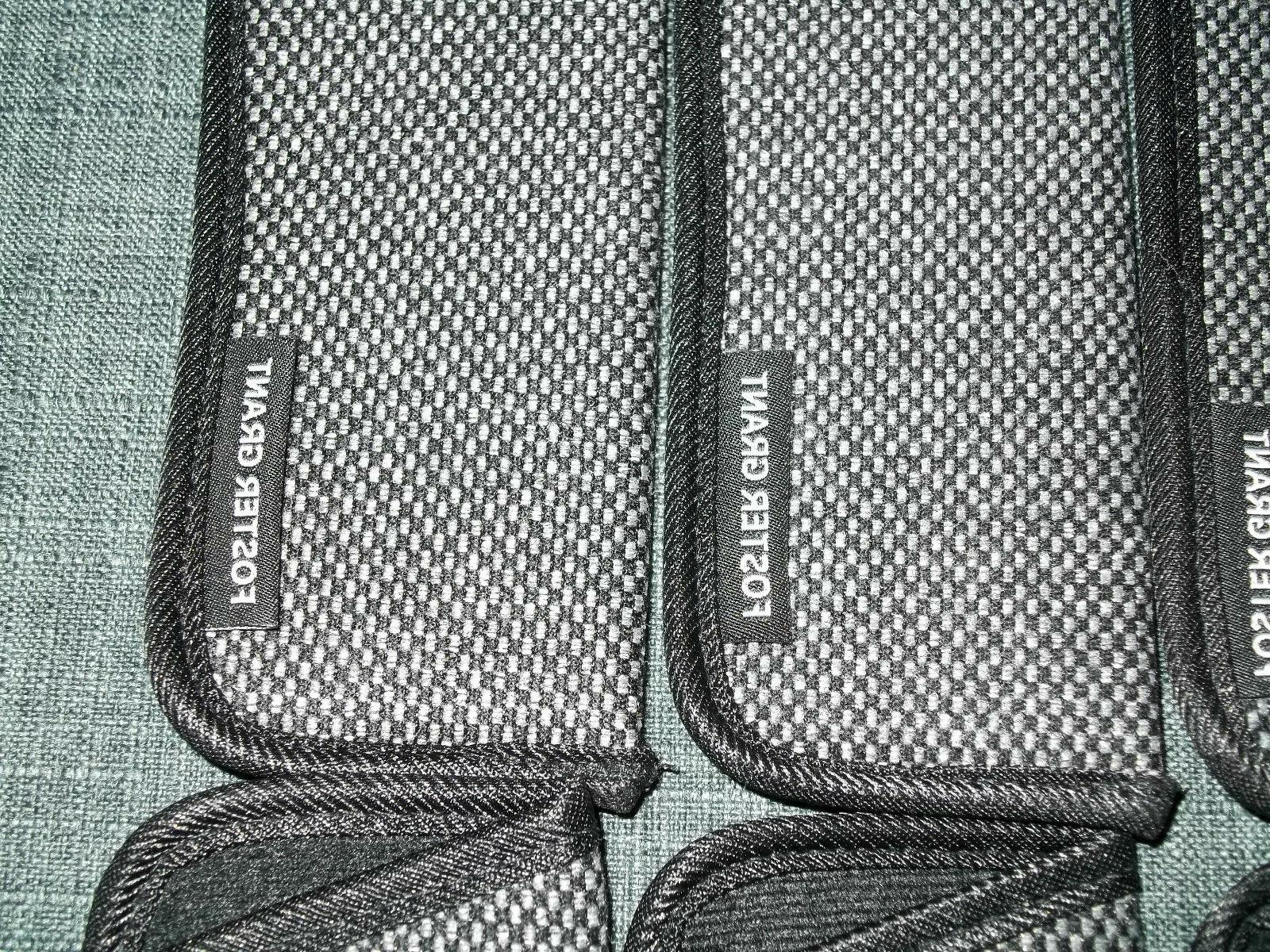 FOSTER GRANT Cases, Sleeves, BLACK GRAY CHECKERED, Lot 10