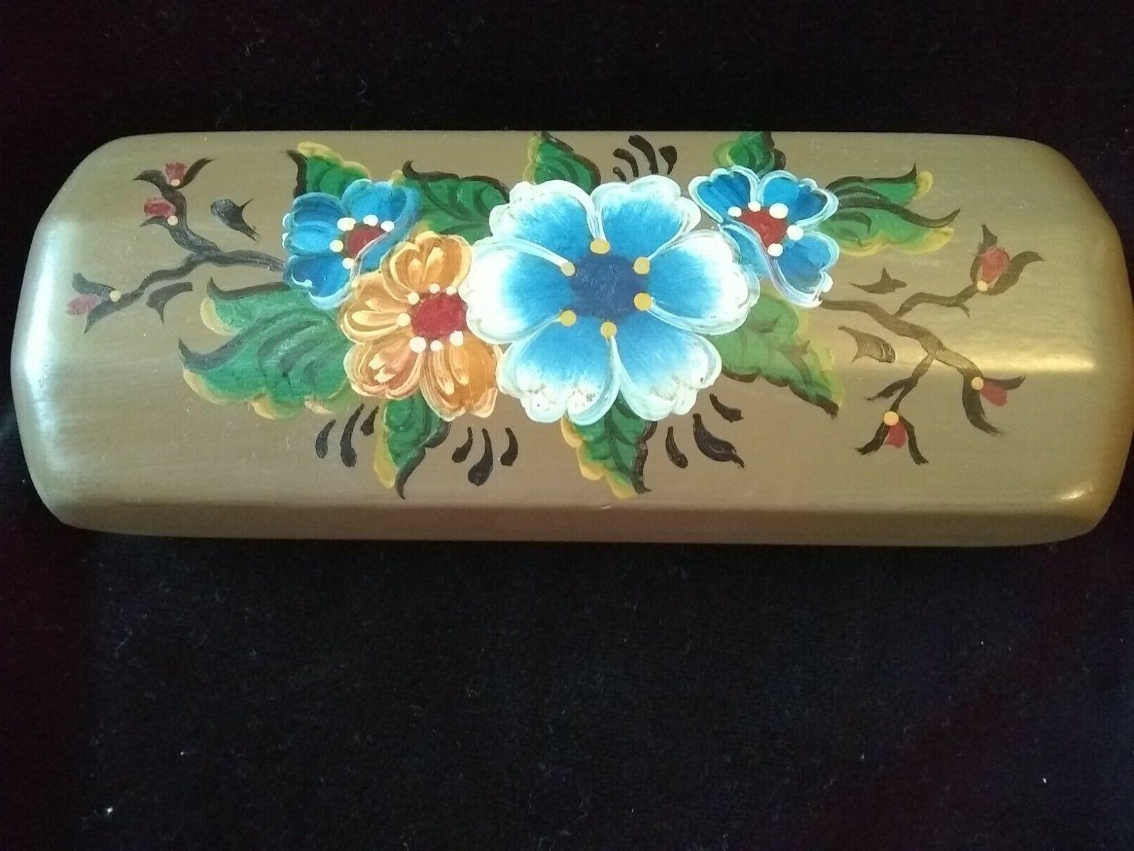 rosemal eyeglass case hand crafted norwegian rosmaling