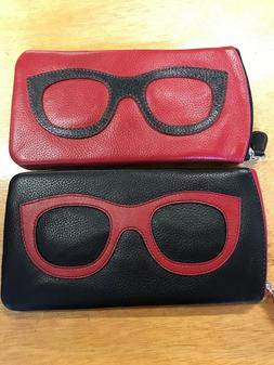 leather eyeglass cases in 20 color combos